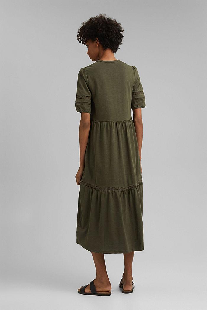 Maxikleid aus Jersey, Organic Cotton, KHAKI GREEN, detail image number 2