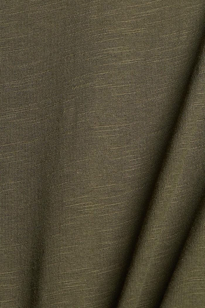 Maxikleid aus Jersey, Organic Cotton, KHAKI GREEN, detail image number 4