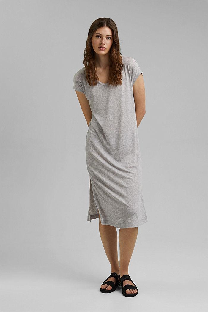Jerseykleid aus TENCEL™ Lyocell, LIGHT GREY, detail image number 1
