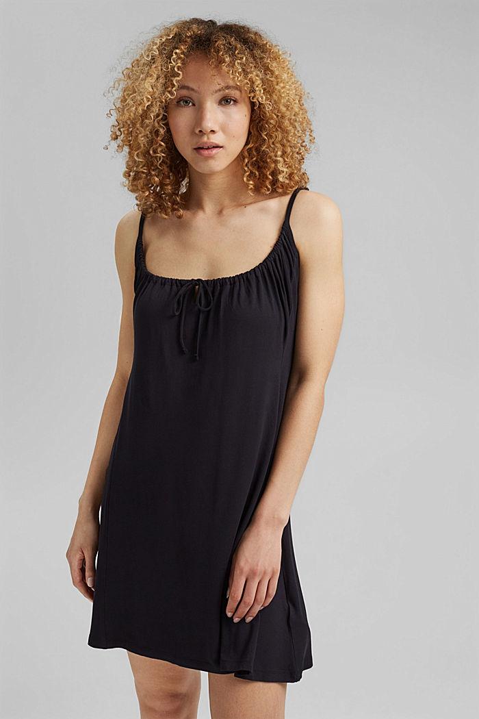 Jerseykleid mit Print, LENZING™ ECOVERO™, BLACK, detail image number 0