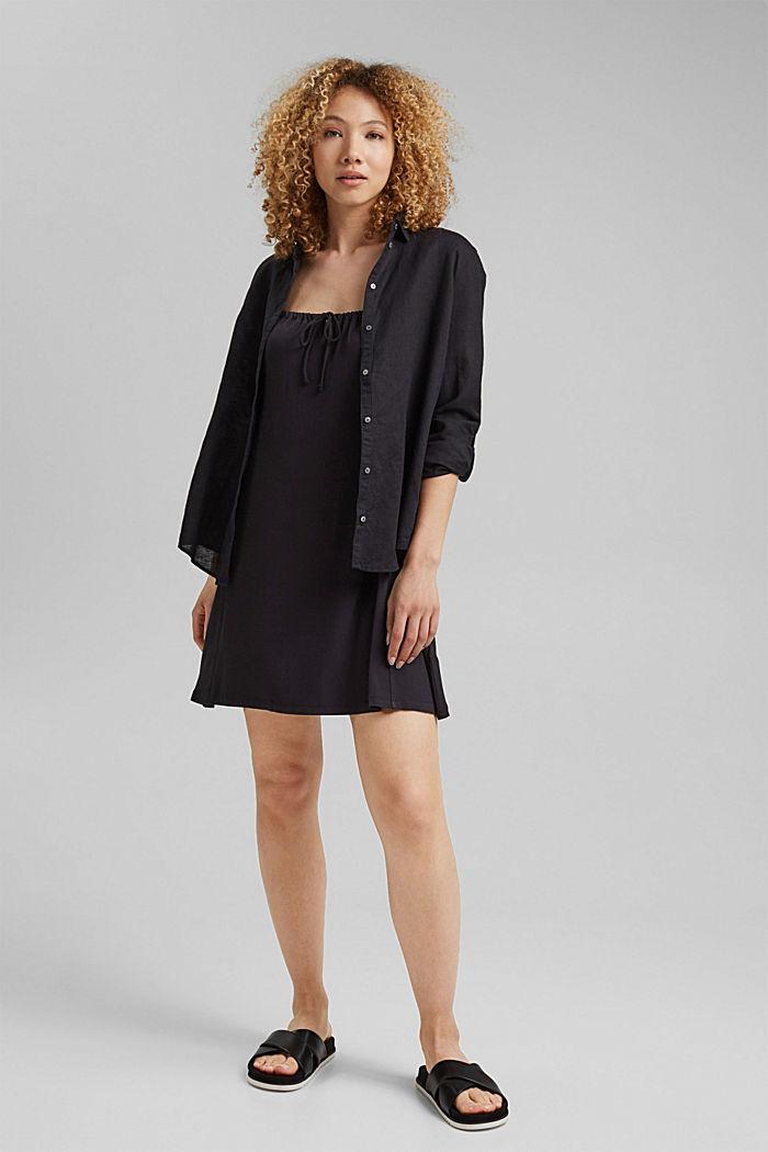 Jerseykleid mit Print, LENZING™ ECOVERO™, BLACK, detail image number 1