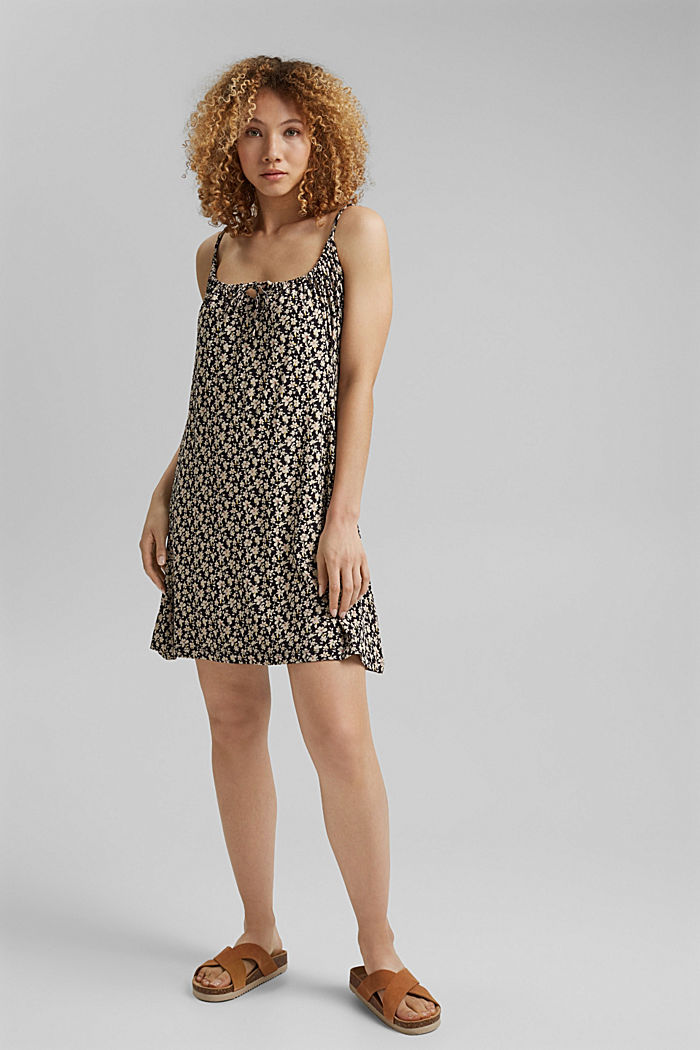 Jerseykleid mit Print, LENZING™ ECOVERO™, BLACK COLORWAY, detail image number 7