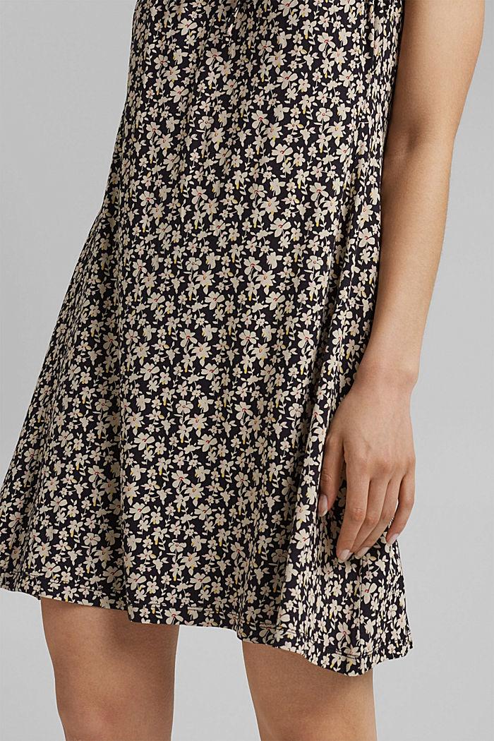 Jerseykleid mit Print, LENZING™ ECOVERO™, BLACK COLORWAY, detail image number 6