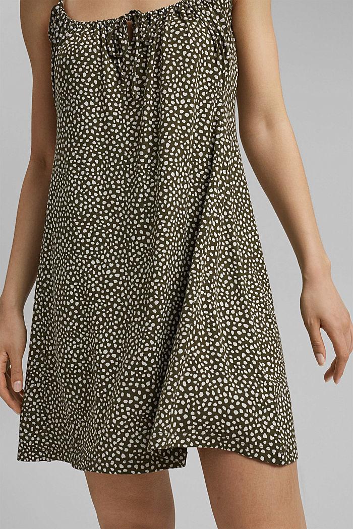 Jerseykleid mit Print, LENZING™ ECOVERO™, KHAKI GREEN, detail image number 5