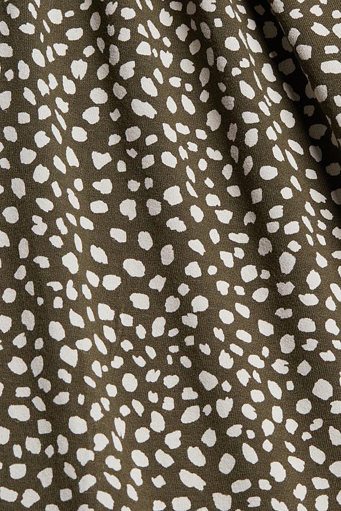 Jerseykleid mit Print, LENZING™ ECOVERO™, KHAKI GREEN, detail image number 4