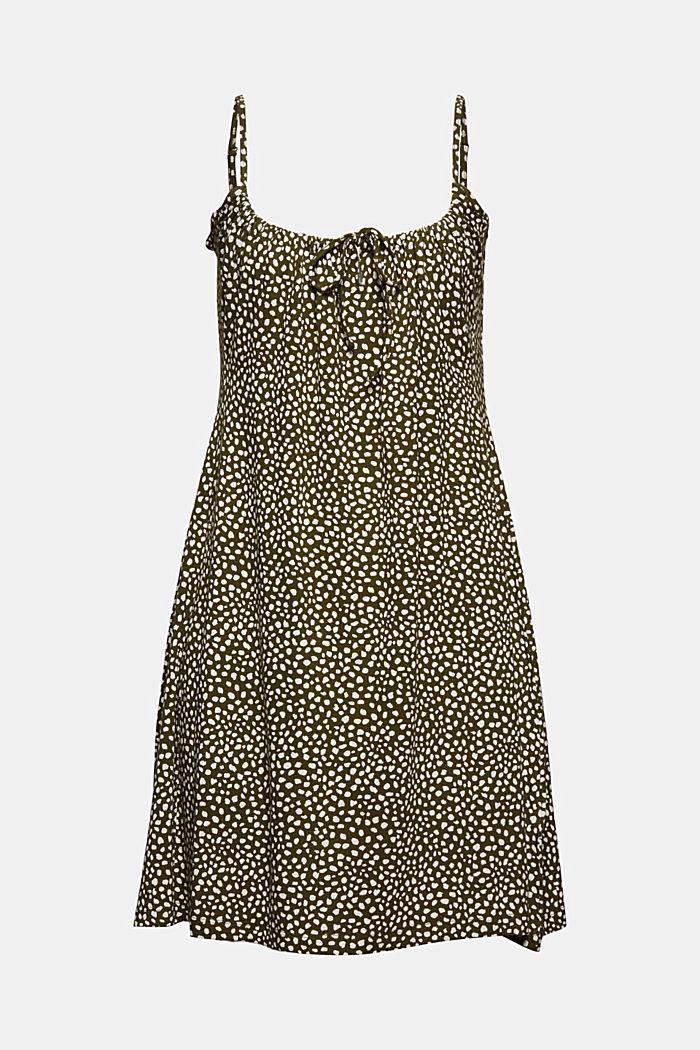 Jerseykleid mit Print, LENZING™ ECOVERO™, KHAKI GREEN, detail image number 6