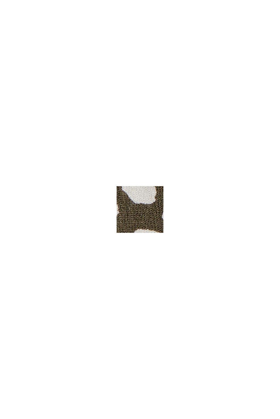 Jerseykleid mit Print, LENZING™ ECOVERO™, KHAKI GREEN, swatch