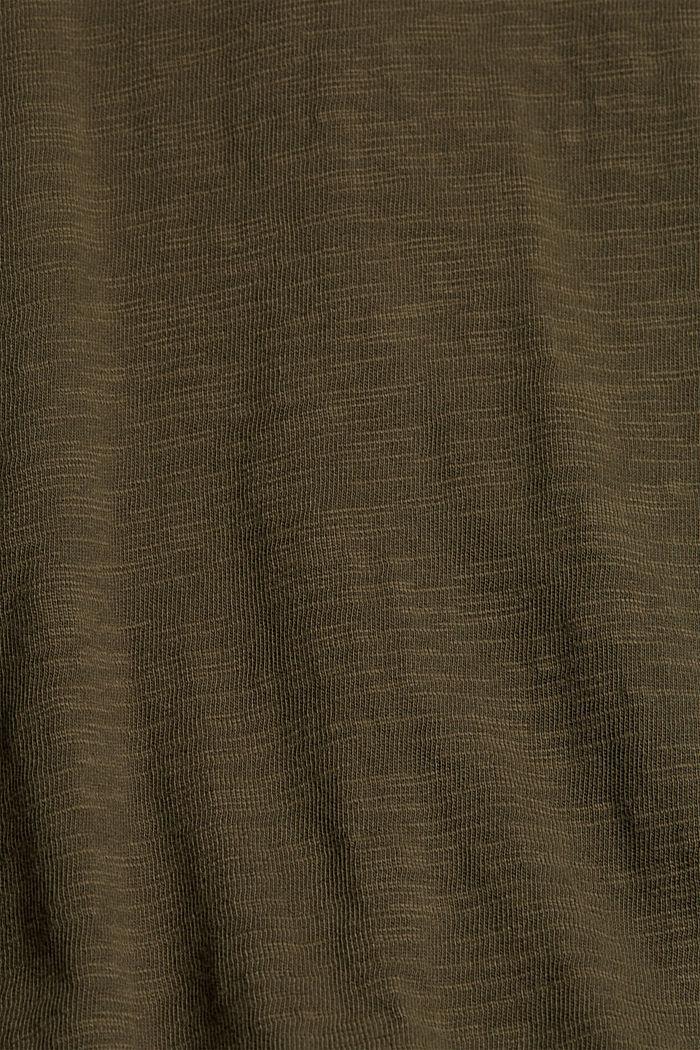 Jersey-midimekko 100 % luomupuuvillaa, KHAKI GREEN, detail image number 4