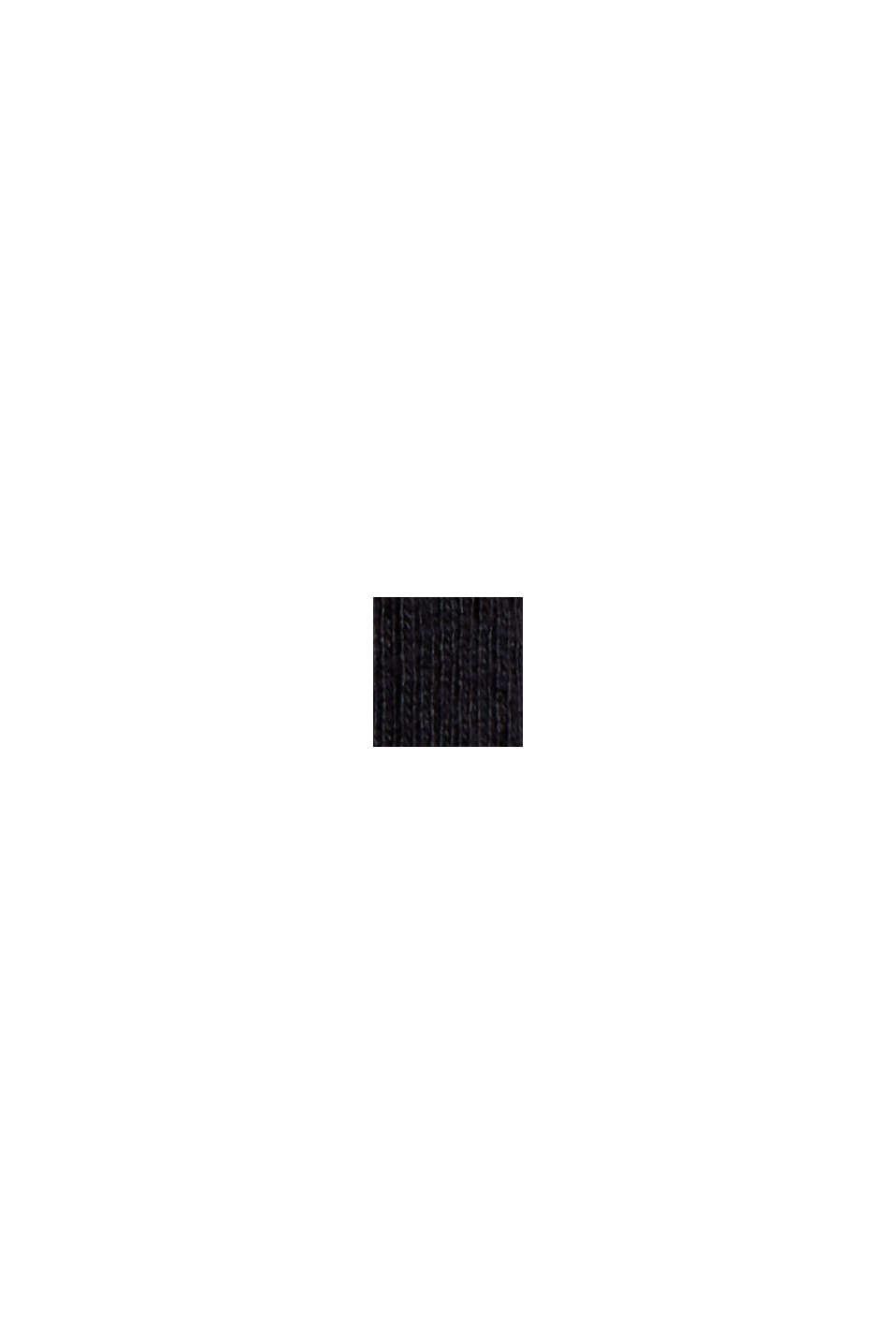 Jerseykleid aus Bio-Baumwoll-Mix, BLACK, swatch