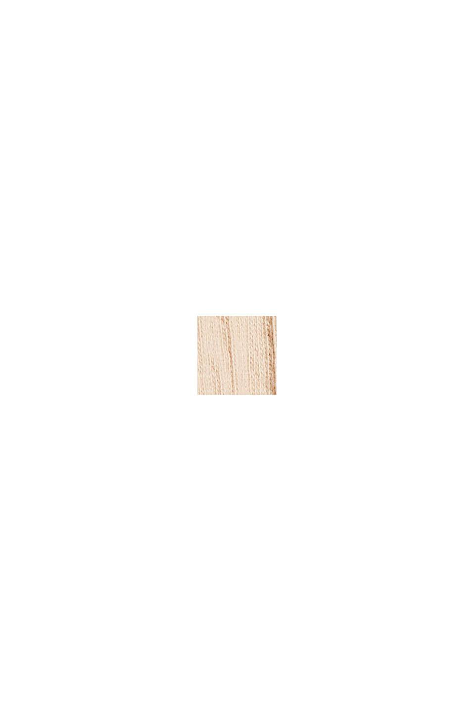 Jerseykleid aus Bio-Baumwoll-Mix, BEIGE, swatch