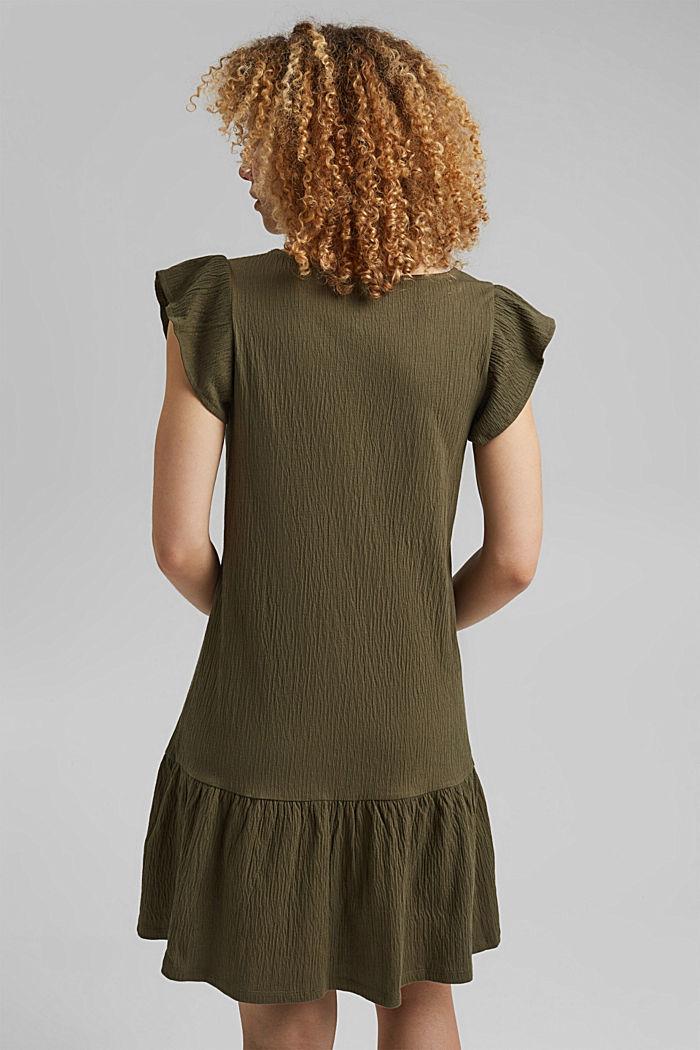 Sukienka z dżerseju z mieszanki bawełny ekologicznej, KHAKI GREEN, detail image number 2