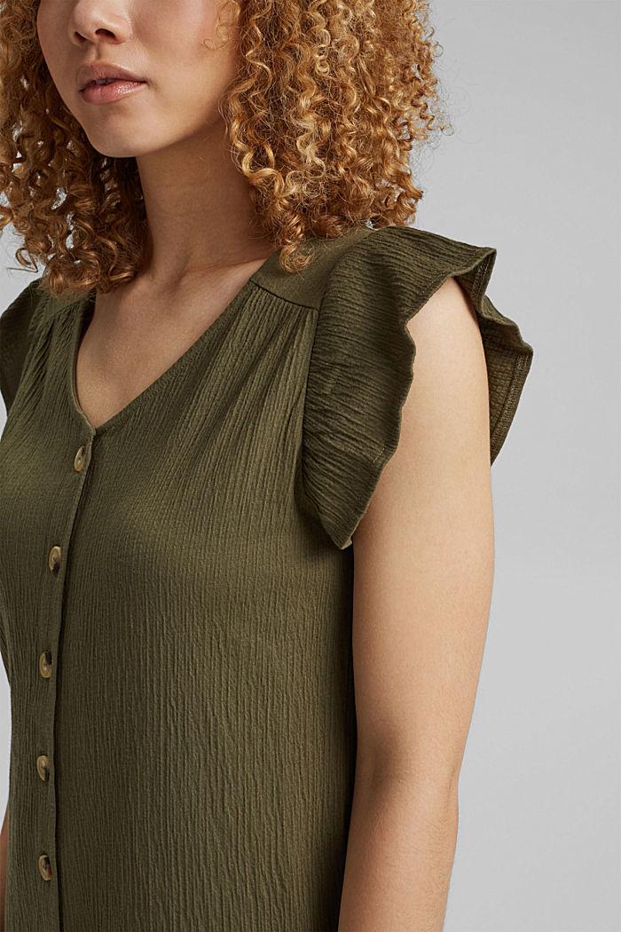 Sukienka z dżerseju z mieszanki bawełny ekologicznej, KHAKI GREEN, detail image number 3