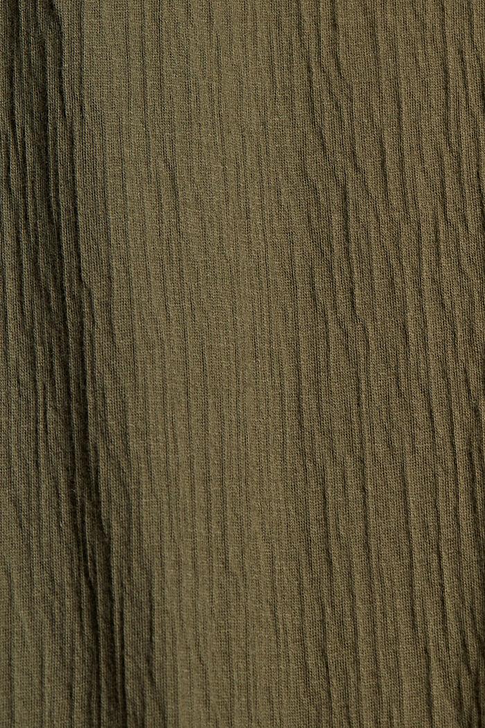 Sukienka z dżerseju z mieszanki bawełny ekologicznej, KHAKI GREEN, detail image number 4