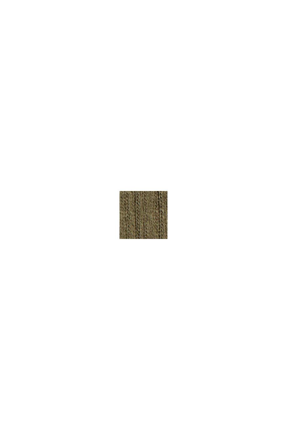 Jerseykleid aus Bio-Baumwoll-Mix, KHAKI GREEN, swatch