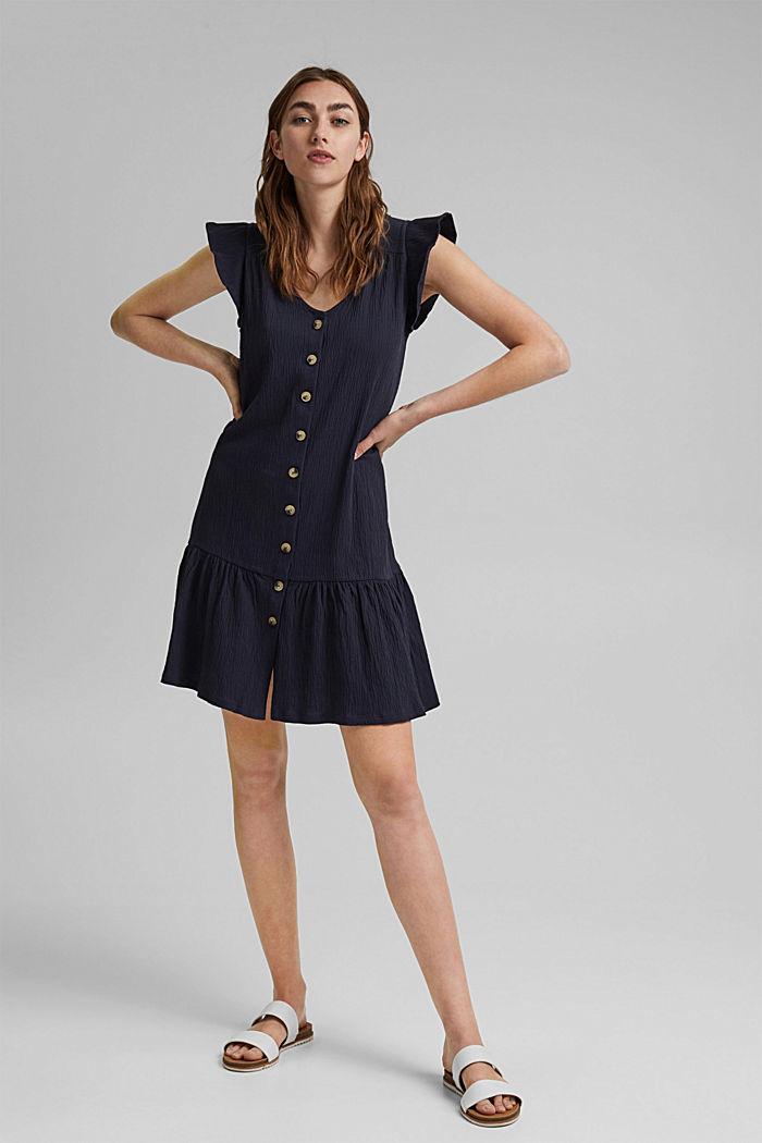 Jerseykleid aus Bio-Baumwoll-Mix, NAVY, detail image number 1