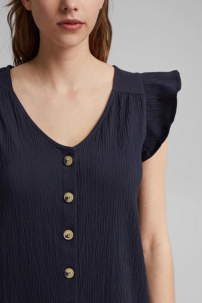 Jerseykleid aus Bio-Baumwoll-Mix, NAVY, detail image number 3