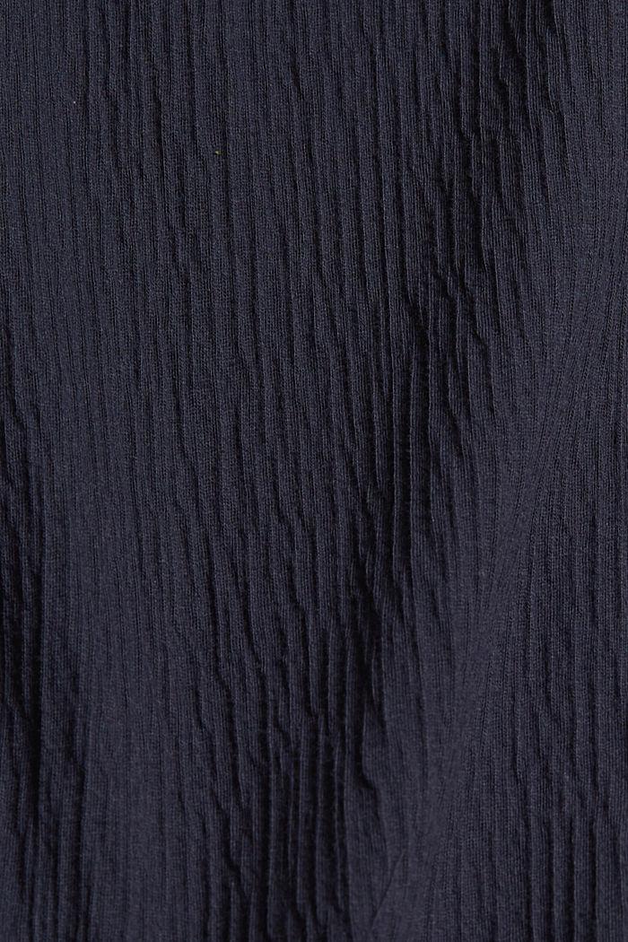 Jerseykleid aus Bio-Baumwoll-Mix, NAVY, detail image number 4