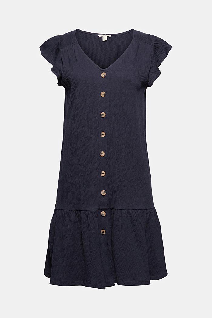Jerseykleid aus Bio-Baumwoll-Mix, NAVY, detail image number 5