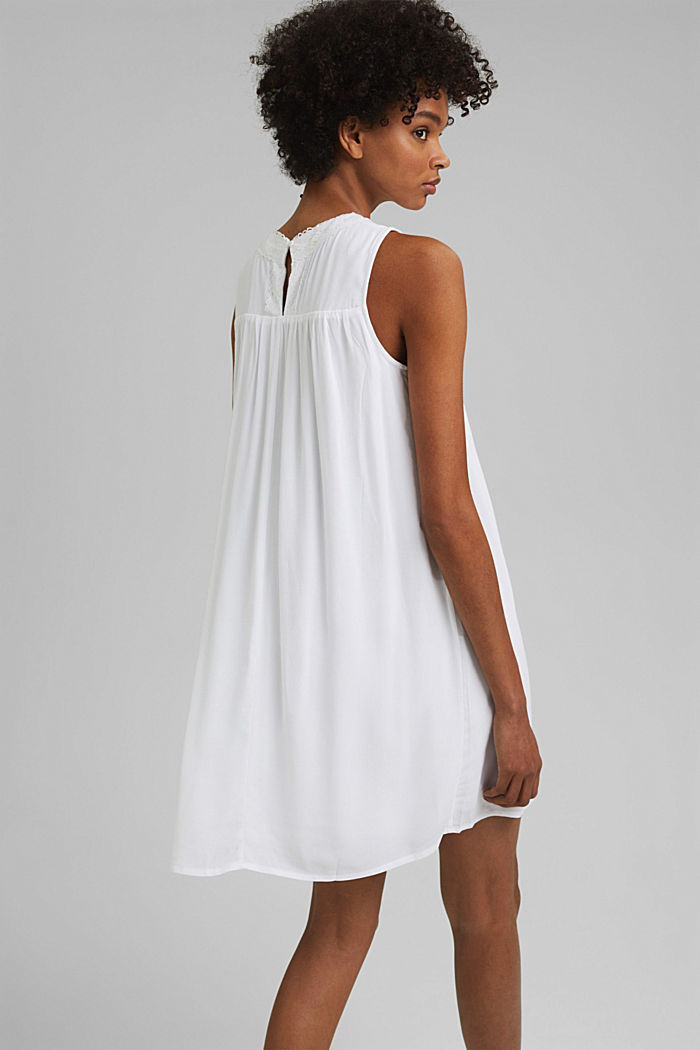 Petite robe ornée de dentelle crochetée, WHITE, detail image number 2
