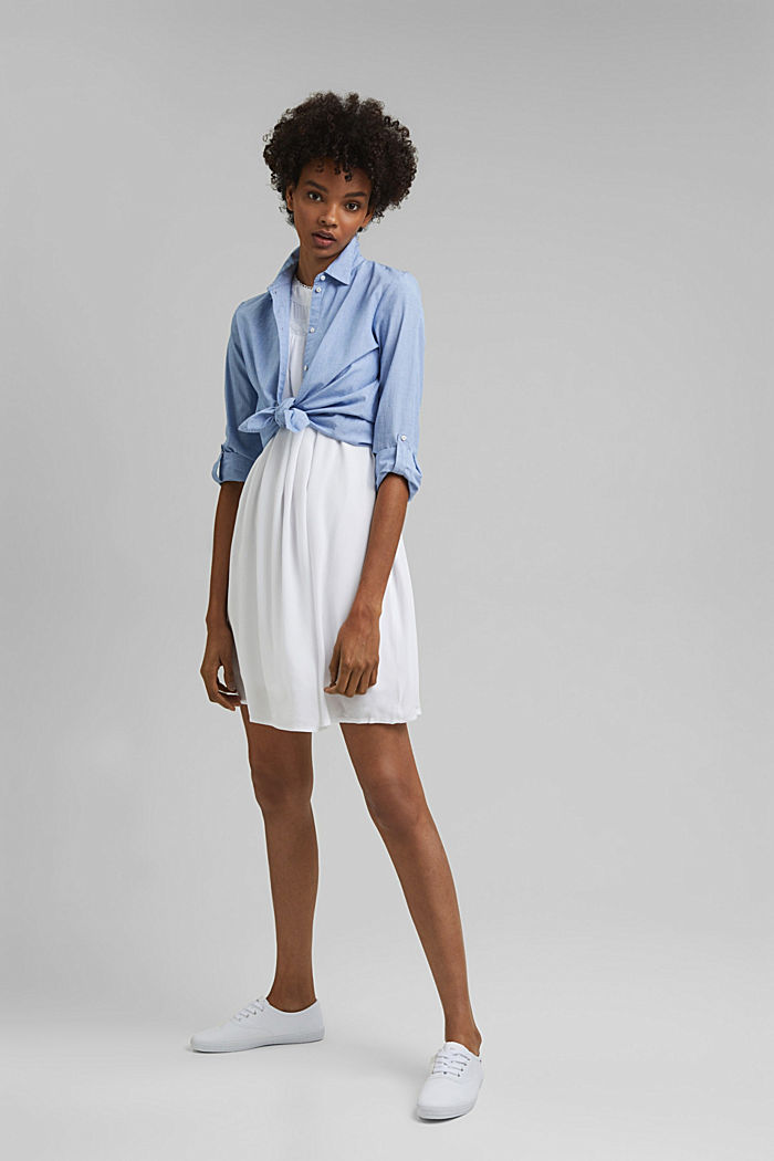 Petite robe ornée de dentelle crochetée, WHITE, detail image number 1