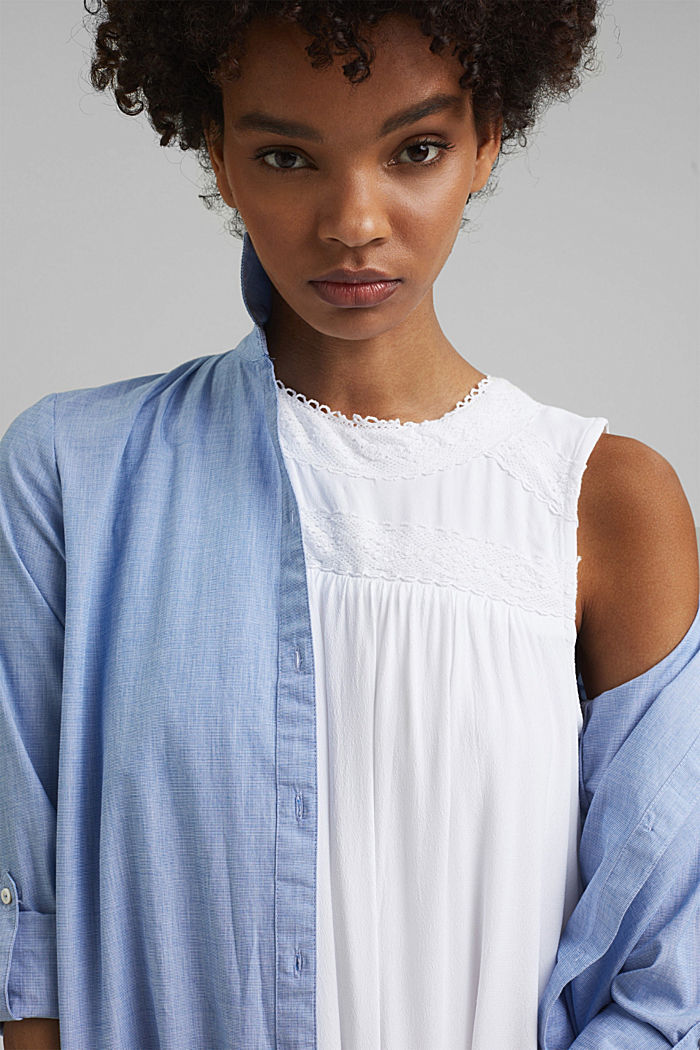 Petite robe ornée de dentelle crochetée, WHITE, detail image number 6