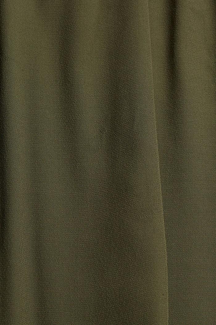 Jurk met gehaakte kant, KHAKI GREEN, detail image number 4
