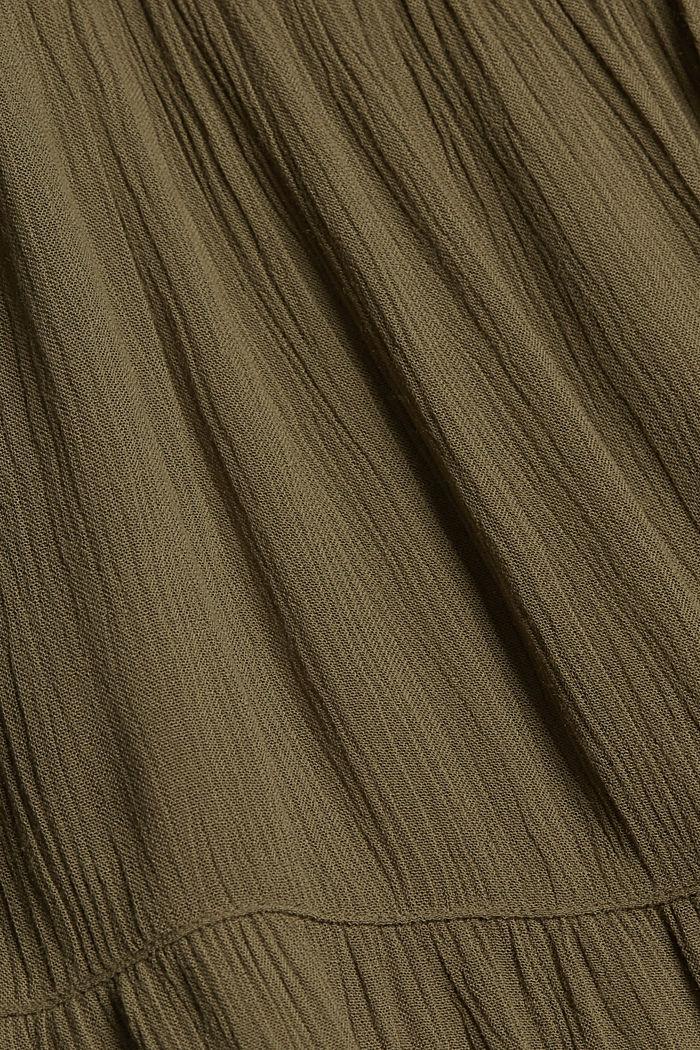 Volánové šaty z materiálu LENZING™ ECOVERO™, KHAKI GREEN, detail image number 4