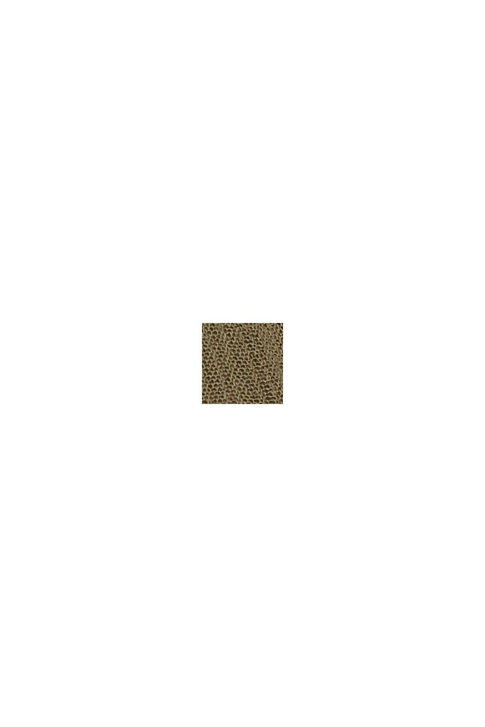 Flounce dress made of LENZING™ ECOVERO™, KHAKI GREEN, swatch