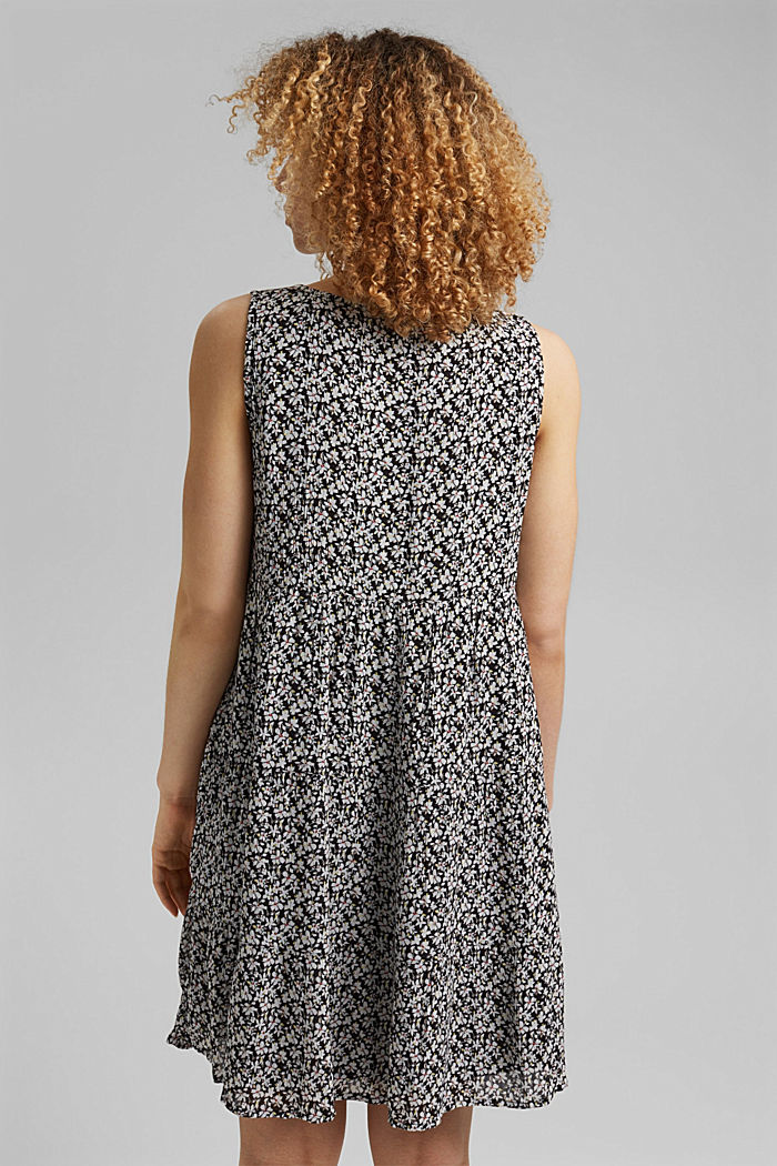 Printed tiered dress, LENZING™ ECOVERO™, BLACK, detail image number 2