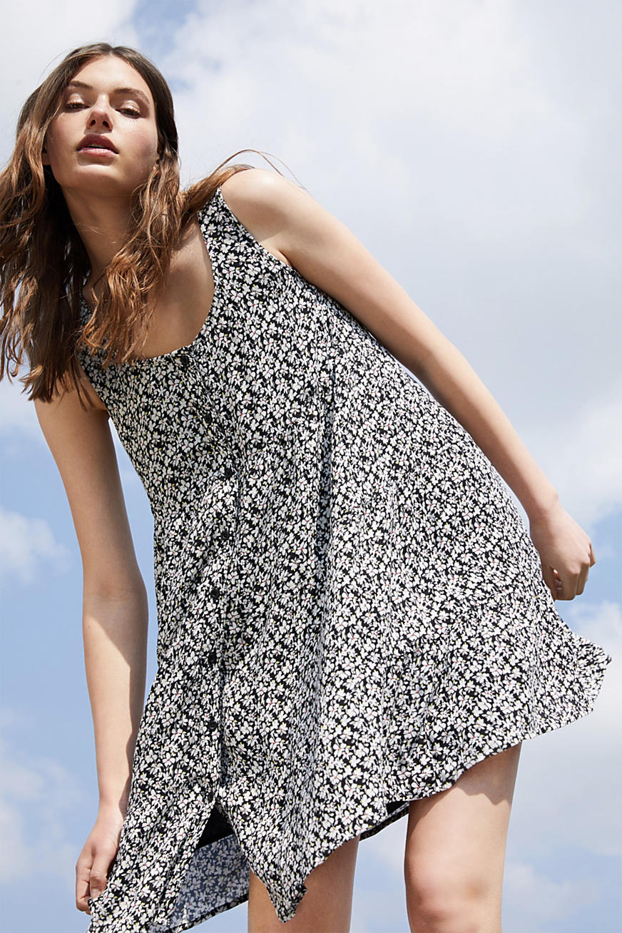 Printed tiered dress, LENZING™ ECOVERO™