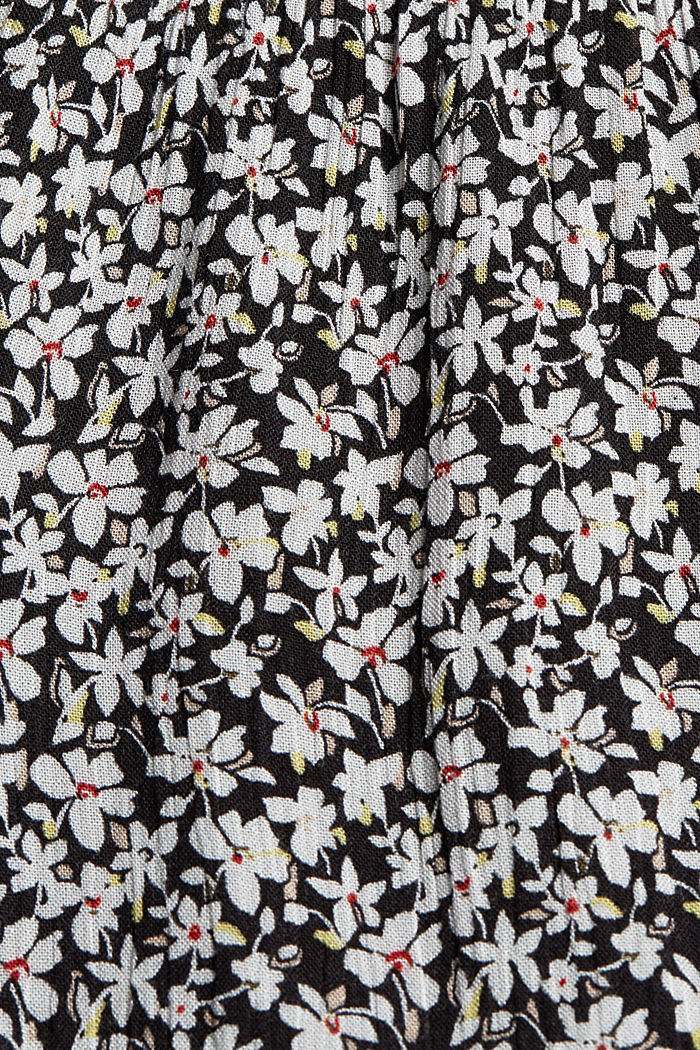 Printed tiered dress, LENZING™ ECOVERO™, BLACK, detail image number 4