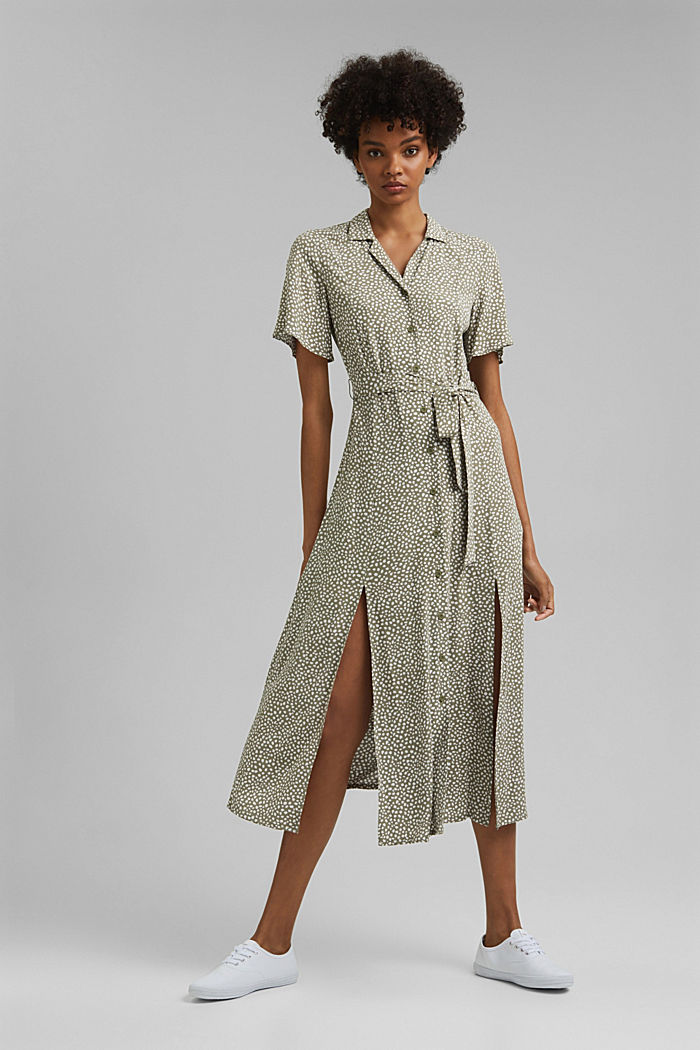Shirt dress with belt, LENZING™ ECOVERO™