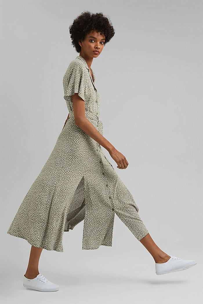 Blusenkleid mit Gürtel, LENZING™ ECOVERO™, LIGHT KHAKI, detail image number 1