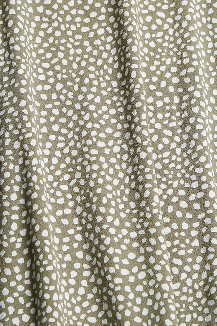 Blusenkleid mit Gürtel, LENZING™ ECOVERO™, LIGHT KHAKI, detail image number 4