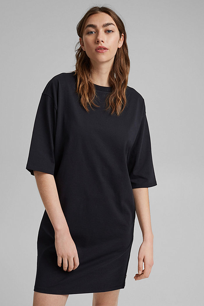 T-Shirt-Kleid aus 100% Organic Cotton, BLACK, detail image number 0