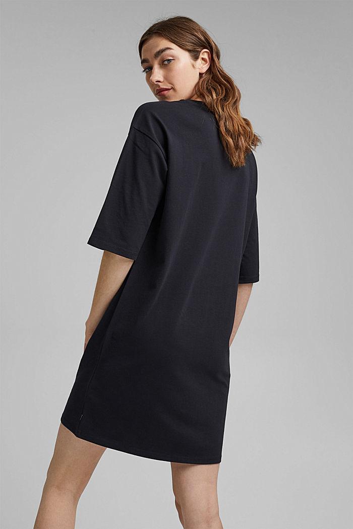 T-Shirt-Kleid aus 100% Organic Cotton, BLACK, detail image number 2