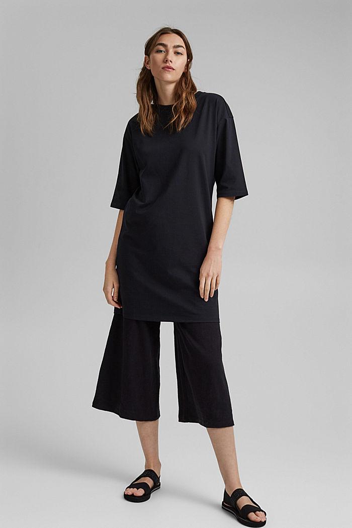 T-Shirt-Kleid aus 100% Organic Cotton, BLACK, detail image number 6