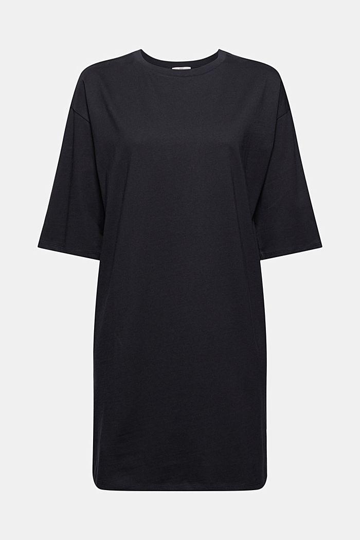 T-Shirt-Kleid aus 100% Organic Cotton, BLACK, detail image number 7