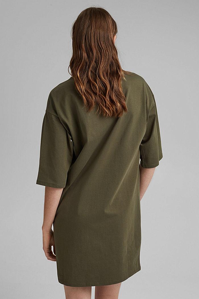 T-Shirt-Kleid aus 100% Organic Cotton, KHAKI GREEN, detail image number 2