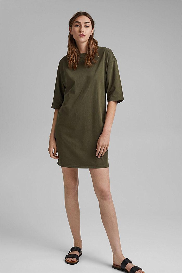 T-Shirt-Kleid aus 100% Organic Cotton, KHAKI GREEN, detail image number 1