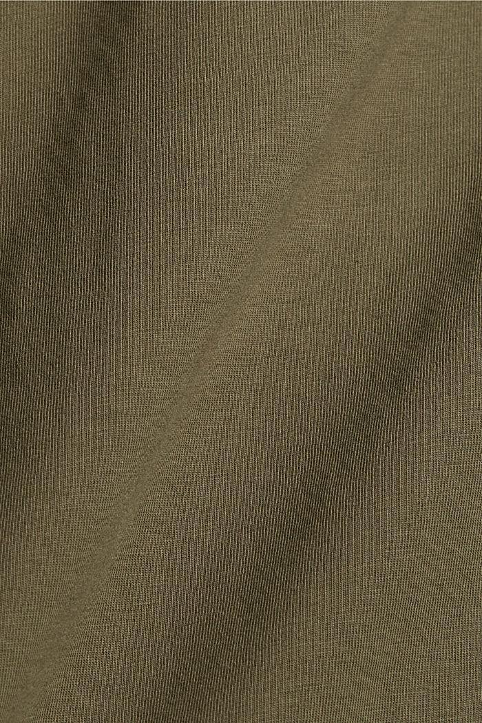 T-Shirt-Kleid aus 100% Organic Cotton, KHAKI GREEN, detail image number 4
