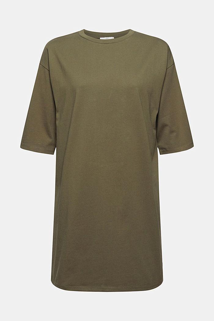 T-Shirt-Kleid aus 100% Organic Cotton, KHAKI GREEN, detail image number 6