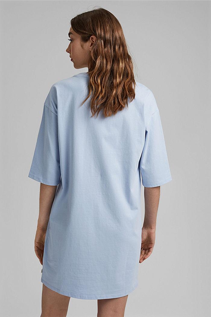 T-Shirt-Kleid aus 100% Organic Cotton, LIGHT BLUE LAVENDER, detail image number 2
