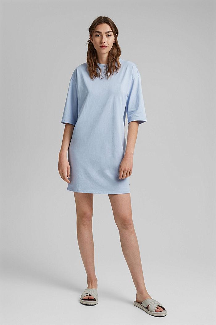 T-Shirt-Kleid aus 100% Organic Cotton, LIGHT BLUE LAVENDER, detail image number 5