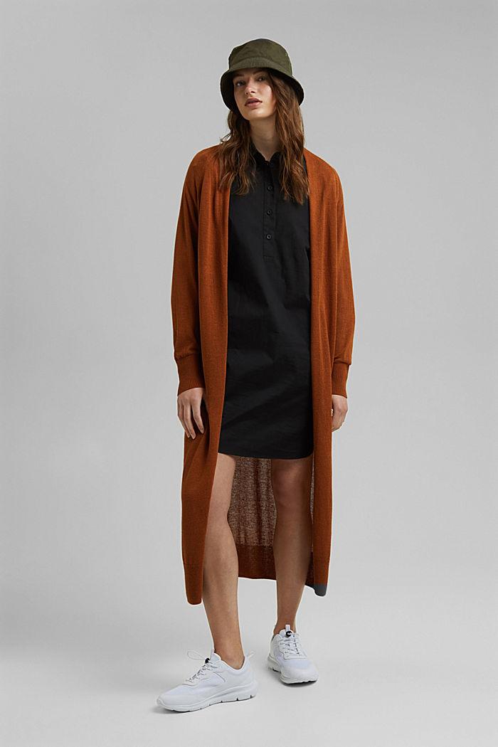 Short shirt dress made of organic cotton, BLACK, detail image number 1