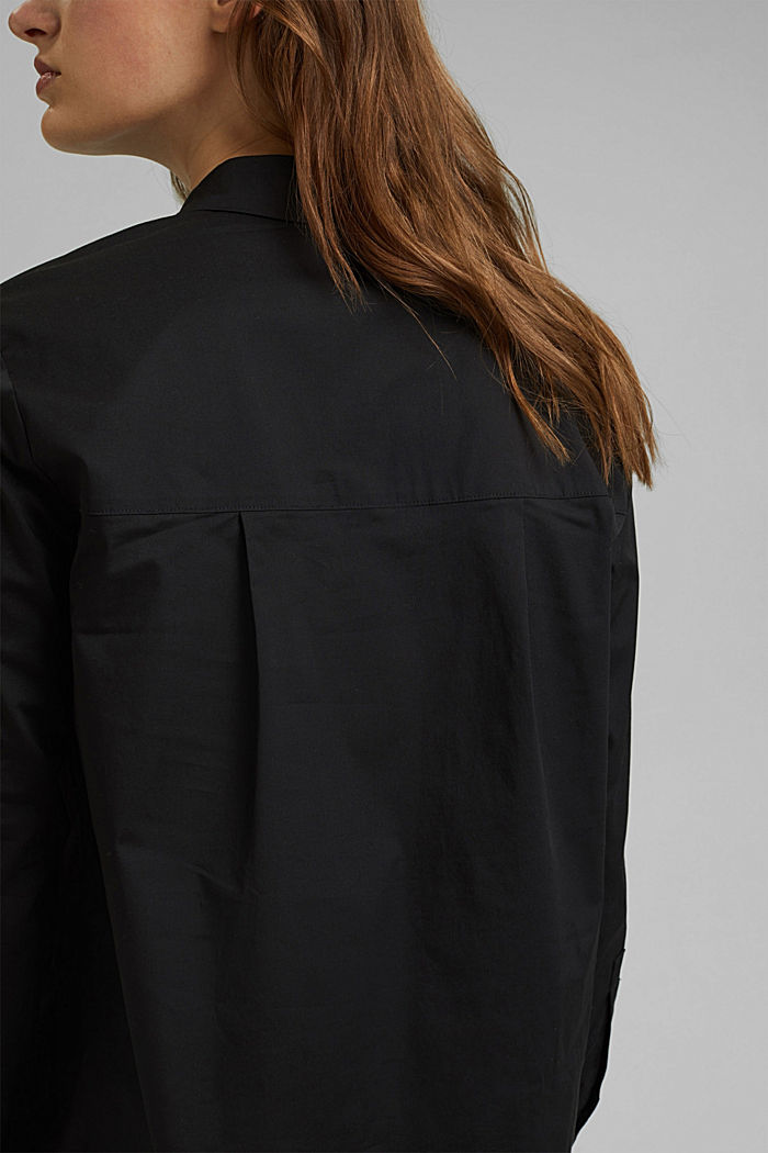 Short shirt dress made of organic cotton, BLACK, detail image number 5