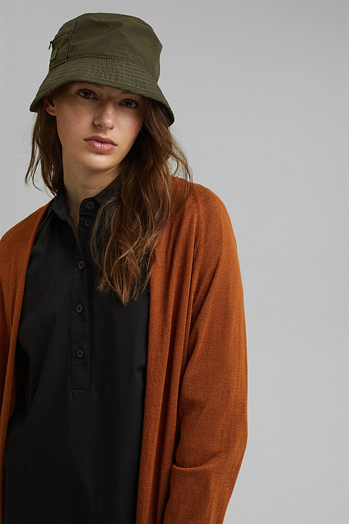 Short shirt dress made of organic cotton, BLACK, detail image number 6