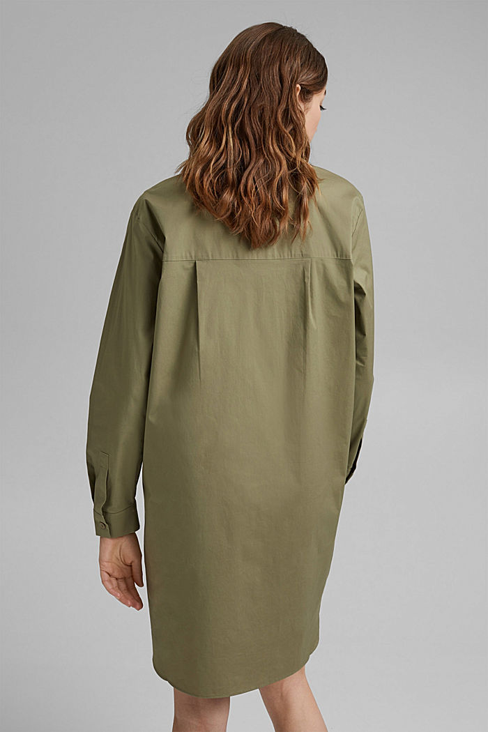 Kurzes Hemdblusenkleid aus Organic Cotton, LIGHT KHAKI, detail image number 2