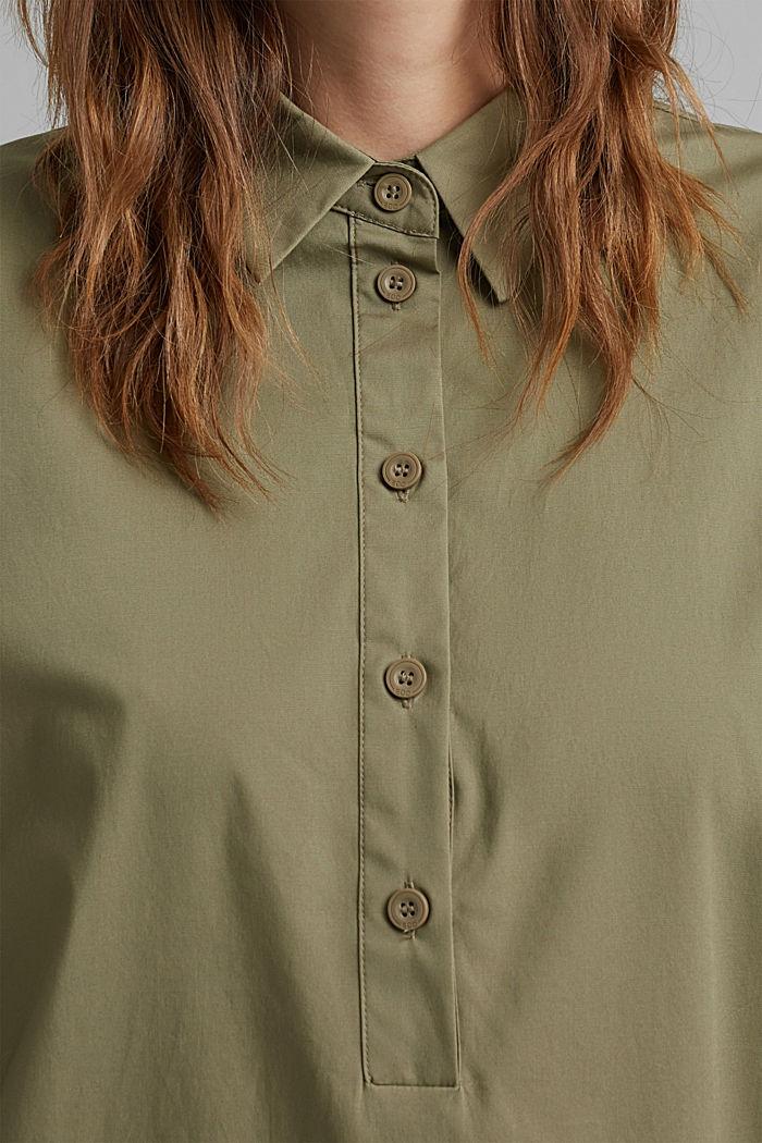 Kurzes Hemdblusenkleid aus Organic Cotton, LIGHT KHAKI, detail image number 3