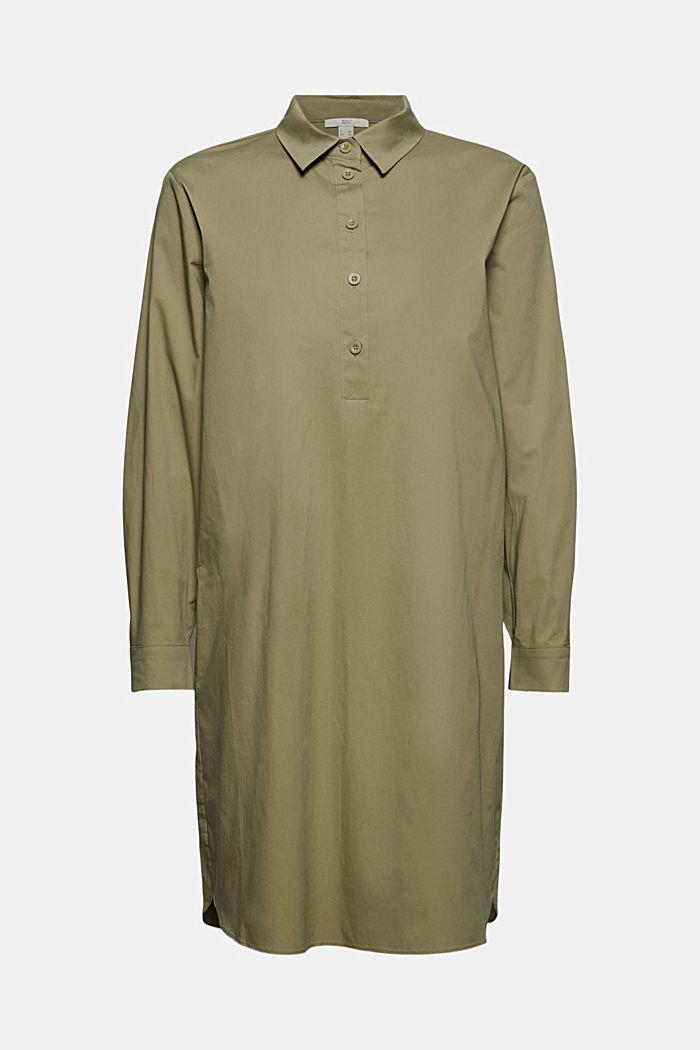 Kurzes Hemdblusenkleid aus Organic Cotton
